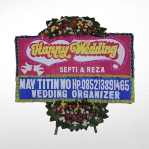 Bunga Papan Wedding PB01