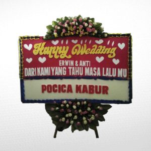 Bunga Papan Wedding PB03